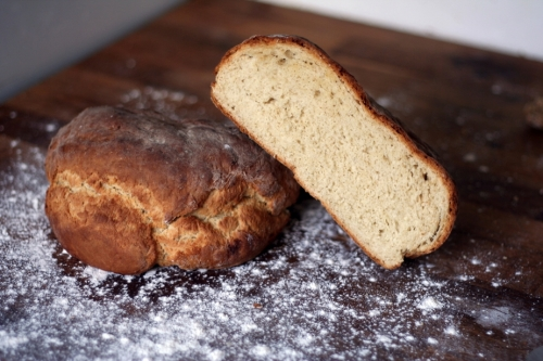 Loaf baked uncovered