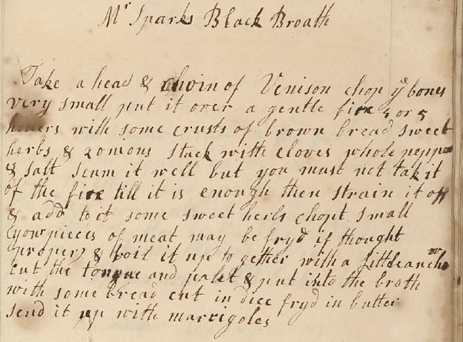 Original Black Broth recipe
