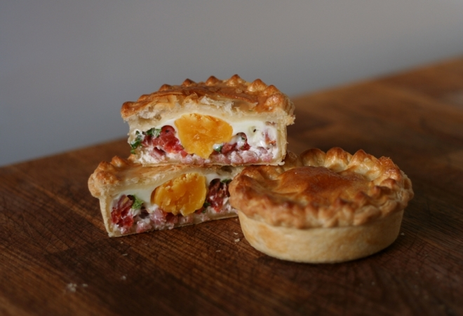 Bacon and Egg Pie with Tomato