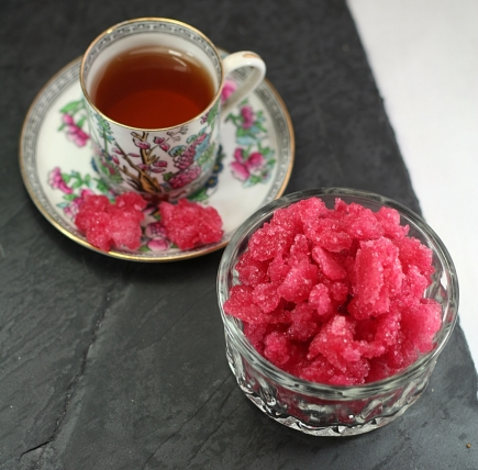 Raspberry Sugar To Drink In Tea, 17th Century