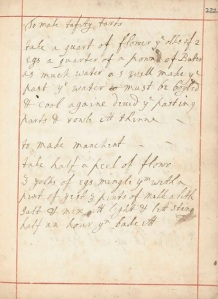 Two incomplete recipes from the pen of Jane Newton