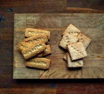 Oaten Biscuits two ways